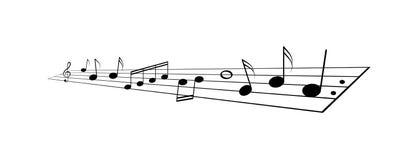 De muziek neemt nota van personeel vector illustratie