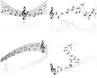 De muziek neemt nota van vectorachtergronden Royalty-vrije Stock Afbeeldingen