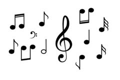 De muziek neemt nota van vectorpictogram stock illustratie
