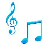 De muziek, pictogram, stemt Royalty-vrije Stock Afbeelding