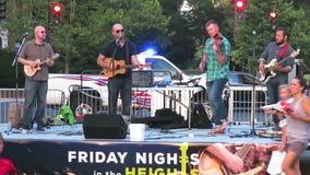 De Muziek van Bluegrass van het land in de Zomer stock footage