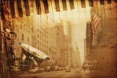 De muziek van Broadway Stock Foto