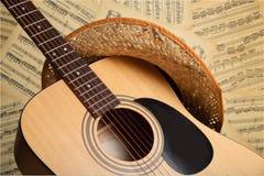 De Muziek van de country muziek stock foto's