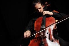 De muziek van de cello Stock Afbeeldingen