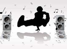 De muziek van de dans Stock Foto's