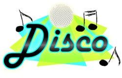 De muziek van de disco/eps Stock Fotografie