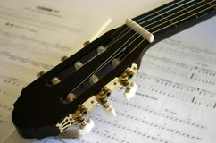 De Muziek van de gitaar royalty-vrije stock afbeeldingen