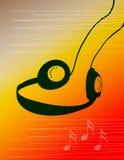 De Muziek van de hoofdtelefoon Stock Foto