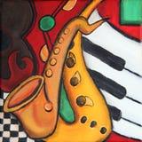 De muziek van de jazz Stock Foto's