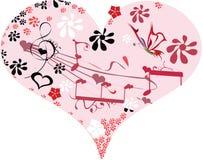 De muziek van de liefde stock illustratie