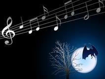 De muziek van de nacht Stock Afbeeldingen