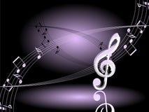 De muziek van de nacht. Vector. Stock Foto's