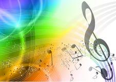 De muziek van de regenboog Stock Afbeelding