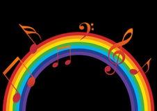 De muziek van de regenboog Stock Afbeeldingen