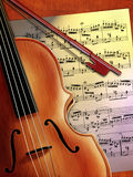 De muziek van de viool royalty-vrije stock foto's