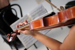 De muziek van de viool en van het blad Stock Afbeelding