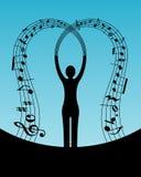 De muziek van de vrouw Royalty-vrije Stock Afbeeldingen