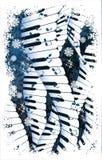 De muziek van de winter. Stock Afbeeldingen
