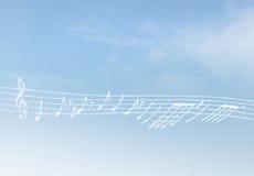De Muziek van de wolk royalty-vrije stock afbeeldingen