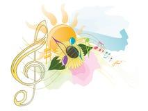 De muziek van de zomer Stock Foto's