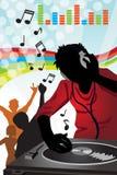 De muziek van DJ Stock Afbeelding