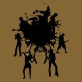De muziek van Grunge stock illustratie