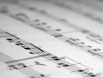 De Muziek van het blad Royalty-vrije Stock Foto