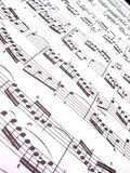 De Muziek van het blad royalty-vrije stock afbeelding
