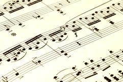 De Muziek van het blad Stock Fotografie