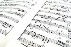 Bladmuziek stock fotografie