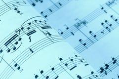 De Muziek van het blad royalty-vrije stock afbeeldingen