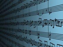 De muziek van het blad vector illustratie