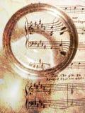 De muziek van het blad op textuur Royalty-vrije Stock Afbeelding