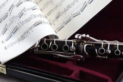 De Muziek van het Geval van de klarinet Stock Afbeelding