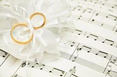 De muziek van het huwelijk Stock Foto's