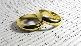De muziek van het huwelijk Royalty-vrije Stock Afbeeldingen