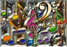 De muziek van het ijzer royalty-vrije illustratie