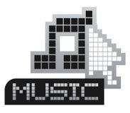 De muziek van het pixel Stock Fotografie