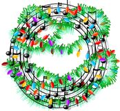 De muziek van Kerstmis vector illustratie