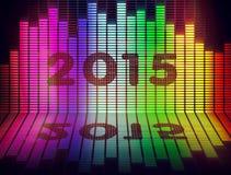 de muziek van 2015 maakt gelijk Royalty-vrije Stock Afbeelding