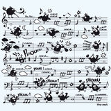 De muziek van vogels Stock Foto