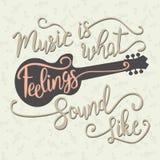 De muziek is wat het Gevoel als klinkt royalty-vrije illustratie