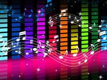 De muziekachtergrond betekent Rots Pop of Klassieke Geluiden Stock Foto