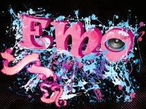 De muziekachtergrond van Emo Royalty-vrije Stock Afbeelding