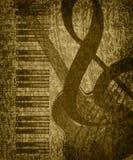 De muziekachtergrond van Grunge Stock Fotografie