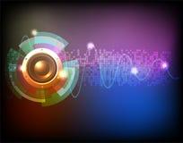 De muziekachtergrond van het neon Stock Afbeeldingen