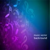 De muziekachtergrond van nota's Stock Foto