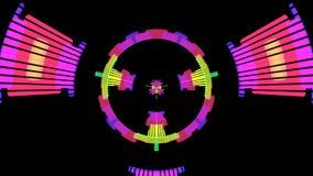 De muziekaudio maakt Niveaus Grafische Computer Geproduceerde Technologie gelijk stock illustratie