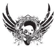 De muziekembleem van Grunge Stock Afbeeldingen