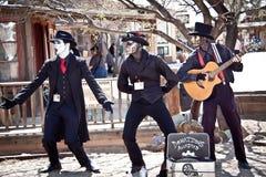 De muziekgroep van Steampunk Stock Foto's